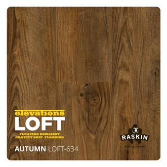 Raskin Elevations Loft Plank: Autumn Floating Luxury Vinyl Plank R-LOFT-634