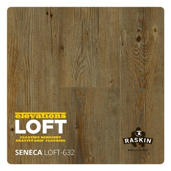 Raskin Elevations Loft Plank: Seneca Floating Luxury Vinyl Plank R-LOFT-632