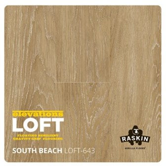 Raskin Elevations Loft Plank: South Beach Floating Luxury Vinyl Plank R-LOFT-643