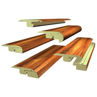 "Quick-Step Eligna: Five-In-One Dark Varnished Cherry Plank - 84"" Long"
