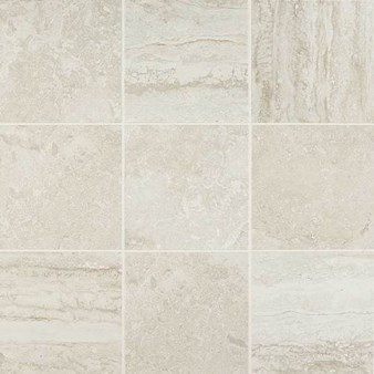 "Daltile Exquisite: Ivory 12"" x 12"" Glazed Porcelain Tile EQ10-12121P6"