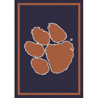 "Milliken College Team Spirit (NCAA) Clemson 79798 Spirit Rectangle (4000019274) 5'4"" x 7'8"" Area Rug"