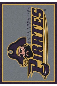 Milliken College Team Spirit (NCAA) East Carolina 79803 Spirit Rectangle (4000019510) 2'8