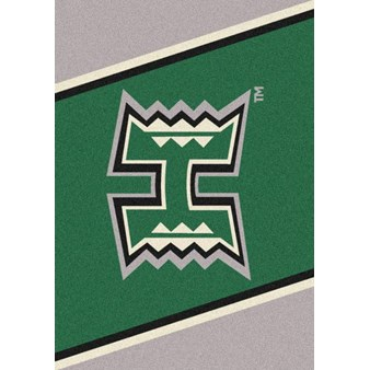 "Milliken College Team Spirit (NCAA) Hawaii 45286 Spirit Rectangle (4000019296) 7'8"" x 10'9"" Area Rug"