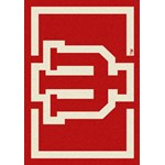 "Milliken College Team Spirit (NCAA) Indiana 45281 Spirit Rectangle (4000019405) 2'8"" x 3'10"" Area Rug"