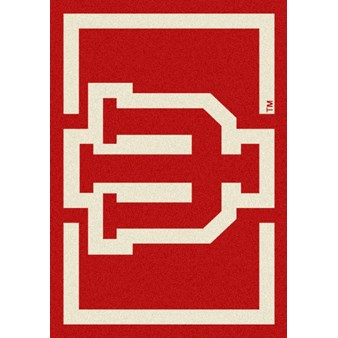 "Milliken College Team Spirit (NCAA) Indiana 45281 Spirit Rectangle (4000019293) 7'8"" x 10'9"" Area Rug"