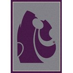 "Milliken College Team Spirit (NCAA) Kansas State 74236 Spirit Rectangle (4000019450) 2'8"" x 3'10"" Area Rug"