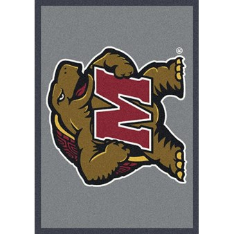 "Milliken College Team Spirit (NCAA) Maryland 74387 Spirit Rectangle (4000019116) 3'10"" x 5'4"" Area Rug"