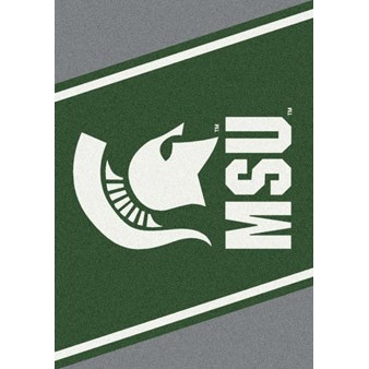 "Milliken College Team Spirit (NCAA) Michigan State 74198 Spirit Rectangle (4000019322) 7'8"" x 10'9"" Area Rug"
