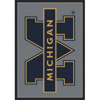 "Milliken College Team Spirit (NCAA) Michigan 74238 Spirit Rectangle (4000019335) 7'8"" x 10'9"" Area Rug"
