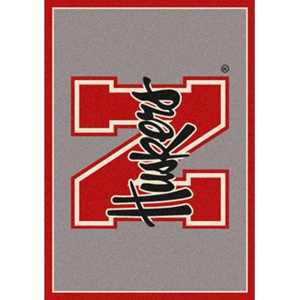 "Milliken College Team Spirit (NCAA) Nebraska 74239 Spirit Rectangle (4000019452) 2'8"" x 3'10"" Area Rug"