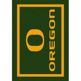 "Milliken College Team Spirit (NCAA) Oregon 45816 Spirit Rectangle (4000019414) 2'8"" x 3'10"" Area Rug"