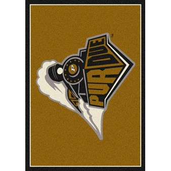 "Milliken College Team Spirit (NCAA) Purdue 74225 Spirit Rectangle (4000019213) 5'4"" x 7'8"" Area Rug"