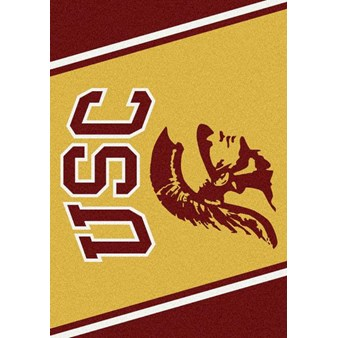 "Milliken College Team Spirit (NCAA) Southern California 45269 Spirit Rectangle (4000019170) 5'4"" x 7'8"" Area Rug"