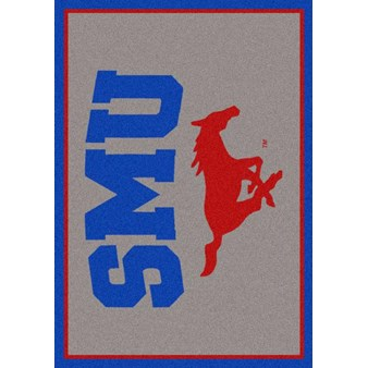 "Milliken College Team Spirit (NCAA) Southern Methodist 79800 Spirit Rectangle (4000019508) 2'8"" x 3'10"" Area Rug"