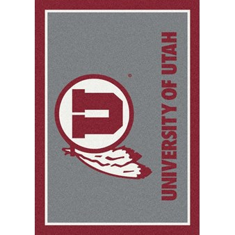 "Milliken College Team Spirit (NCAA) Utah 74746 Spirit Rectangle (4000019487) 2'8"" x 3'10"" Area Rug"