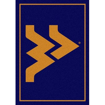 "Milliken College Team Spirit (NCAA) West Virginia 79130 Spirit Rectangle (4000019141) 3'10"" x 5'4"" Area Rug"