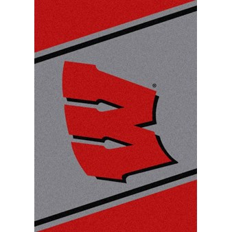 "Milliken College Team Spirit (NCAA) Wisconsin 45288 Spirit Rectangle (4000019177) 5'4"" x 7'8"" Area Rug"