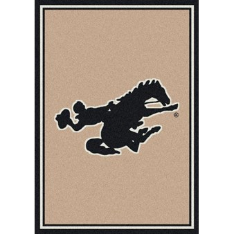 "Milliken College Team Spirit (NCAA) Wyoming 44737 Spirit Rectangle (4000019286) 7'8"" x 10'9"" Area Rug"