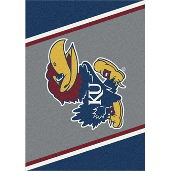 "Milliken College Team Spirit (NCAA-SPT) Kansas 00386 Spirit Rectangle (4000053867) 2'8"" x 3'10"" Area Rug"