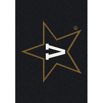 "Milliken College Team Spirit (NCAA-SPT) Vanderbilt 36213 Spirit Rectangle (4000054139) 5'4"" x 7'8"" Area Rug"