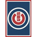 "Milliken MLB Team Spirit (MLB-S) Chicago Cubs 01003 Spirit Rectangle (4000049996) 3'10"" x 5'4"" Area Rug"