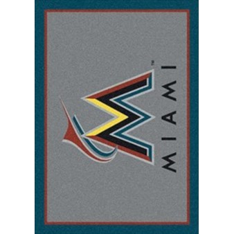 "Milliken MLB Team Spirit (MLB-S) Miami Marlins 01040 Spirit Rectangle (4000019666) 10'9"" x 13'2"" Area Rug"