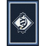 "Milliken MLB Team Spirit (MLB-S) Tampa Bay Rays 01028 Spirit Rectangle (4000019688) 10'9"" x 13'2"" Area Rug"