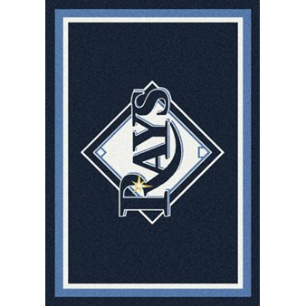 "Milliken MLB Team Spirit (MLB-S) Tampa Bay Rays 01028 Spirit Rectangle (4000019598) 7'8"" x 10'9"" Area Rug"