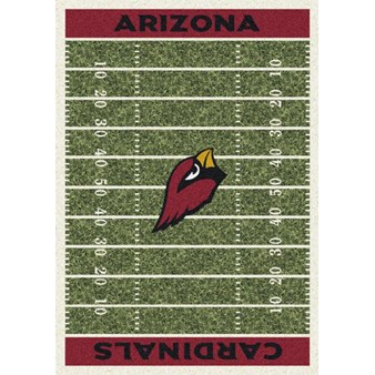 "Milliken NFL Team Home Field (NFL-F) Arizona Cardinals 01003 Home Field Rectangle (4000019881) 10'9"" x 13'2"" Area Rug"