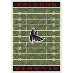 "Milliken NFL Team Home Field (NFL-F) Atlanta Falcons 01006 Home Field Rectangle (4000019818) 5'4"" x 7'8"" Area Rug"