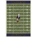 "Milliken NFL Team Home Field (NFL-F) Baltimore Ravens 01009 Home Field Rectangle (4000019883) 10'9"" x 13'2"" Area Rug"