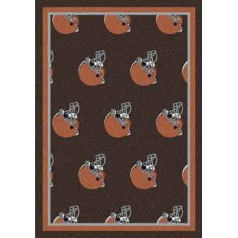 "Milliken NFL Team Repeat (NFL-R) Cleveland Browns 09023 Repeat Rectangle (4000054749) 5'4"" x 7'8"" Area Rug"
