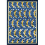 "Milliken NFL Team Repeat (NFL-R) San Diego Chargers 09077 Repeat Rectangle (4000054762) 5'4"" x 7'8"" Area Rug"