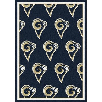 "Milliken NFL Team Repeat (NFL-R) St. Louis Rams 09086 Repeat Rectangle (4000054795) 7'8"" x 10'9"" Area Rug"