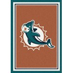 "Milliken NFL Team Spirit (NFL-S) Miami Dolphins 00950 Spirit Rectangle (4000097947) 3'10"" x 5'4"" Area Rug"