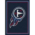 "Milliken NFL Team Spirit (NFL-S) Tennessee Titans 00991 Spirit Rectangle (4000095964) 7'8"" x 10'9"" Area Rug"