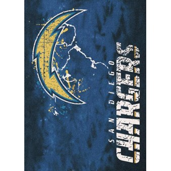 "Milliken NFL Team Fade (NFL-Fade) San Diego Chargers 02977 Fade Rectangle (4000107085) 3'10"" x 5'4"" Area Rug"