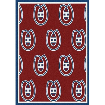 "Milliken NHL Team Repeat (NHL-R) Montreal Canadians 01612 Repeat Rectangle (4000020469) 2'1"" x 7'8"" Area Rug"