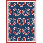 "Milliken MLB Team Repeat (MLB-R) Chicago Cubs 01103 Repeat Rectangle (4000019633) 2'1"" x 7'8"" Area Rug"