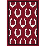 "Milliken MLB Team Repeat (MLB-R) Cincinnati Reds 01104 Repeat Rectangle (4000019604) 7'8"" x 10'9"" Area Rug"