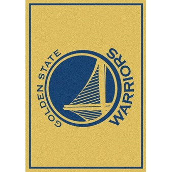 "Milliken NBA Team Spirit (NBA-S) Golden State Warriors 01009 Spirit Rectangle (4000052868) 2'8"" x 3'10"" Area Rug"