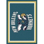 "Milliken NBA Team Spirit (NBA-S) New Orleans Hornets 01019 Spirit Rectangle (4000052345) 3'10"" x 5'4"" Area Rug"