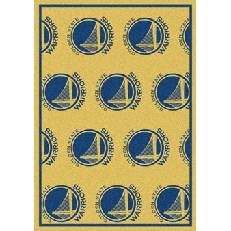 "Milliken NBA Team Repeat (NBA-R) Golden State Warriors 01109 Repeat Rectangle (4000052758) 7'8"" x 10'9"" Area Rug"