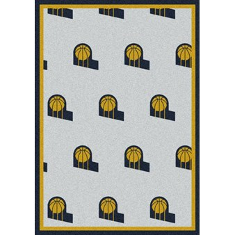 "Milliken NBA Team Repeat (NBA-R) Indiana Pacers 01111 Repeat Rectangle (4000052760) 7'8"" x 10'9"" Area Rug"