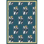 "Milliken NBA Team Repeat (NBA-R) New Orleans Hornets 01119 Repeat Rectangle (4000052588) 5'4"" x 7'8"" Area Rug"