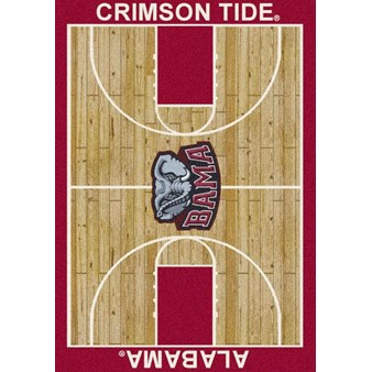 "Milliken College Home Court (NCAA) Alabama 01010 Court Rectangle (4000018448) 7'8"" x 10'9"" Area Rug"