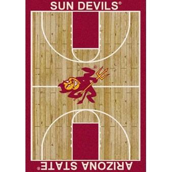 "Milliken College Home Court (NCAA) Arizona State 01014 Court Rectangle (4000018280) 3'10"" x 5'4"" Area Rug"