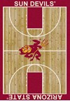 Milliken College Home Court (NCAA) Arizona State 01014 Court Rectangle (4000018365) 5'4