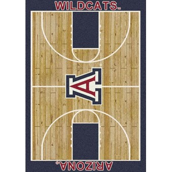 "Milliken College Home Court (NCAA) Arizona 01012 Court Rectangle (4000018279) 3'10"" x 5'4"" Area Rug"